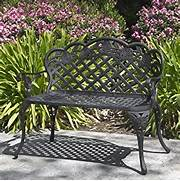 Outdoor Patio Furniture With Bench Seating by Best Choice Products Patio Garden Bench Cast Aluminum Outdoor G