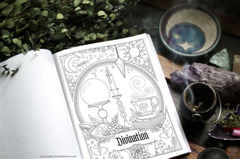 witch life coloring book  shadows