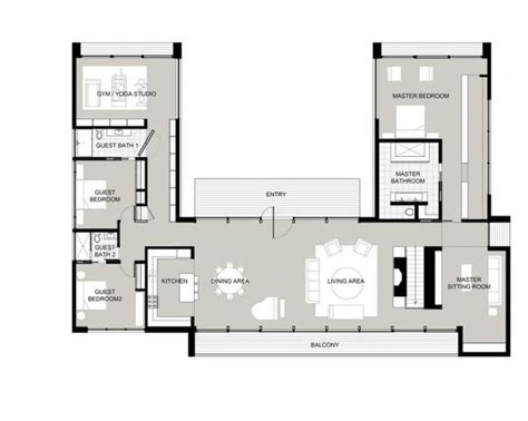 shaped house plans  courtyard fun houses