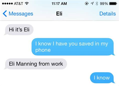 Johnny Bench Number by Leaked Eli Manning And Odell Beckham S Text Message Convo