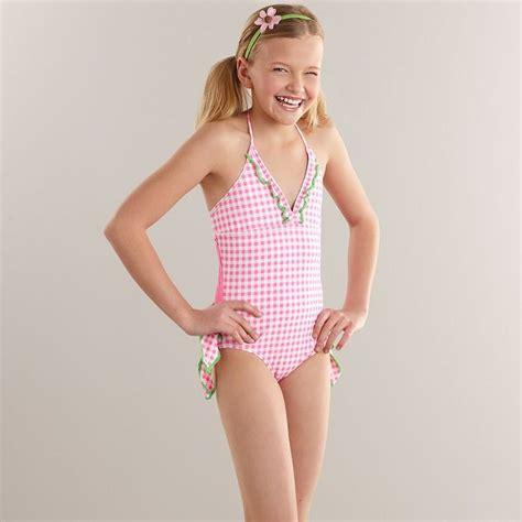 CANDIES Candie's® checkered one-piece halter swimsuit ...