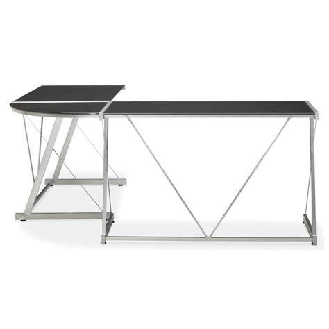 bureau en verre d angle bureau d 39 angle en verre quot lize quot noir