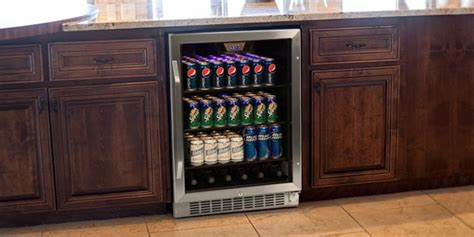 bar with wine fridge freestanding vs built in beverage refrigerators