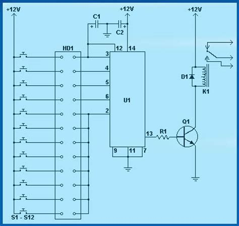 Electronic Combination Lock Circuit Using