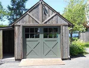 Porte de garage en bois menuiserie de l39estrie idees for Porte de garage enroulable de plus porte bois