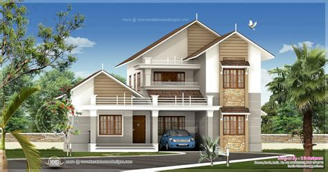 R It Designers (home Design In Kannur) : 2539 Sq-ft Sloping Roof Villa Exterior