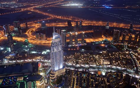 Dubai At Night (burj Khalifa) Wallpaper Edition By