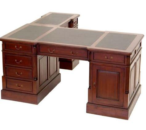 plateau bureau angle bureau d 39 angle style anglais en acajou plateau noir cambridge