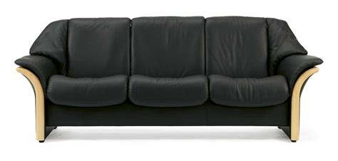 Low Back Reclining Sofa by Stressless Eldorado Low Back 3 Seater Reclining Sofa With