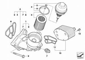 Bmw Genuine Oil Filter Cover E46 U0026gt E93 3  5  6  7 Series  X3  X5  X6 11427789323