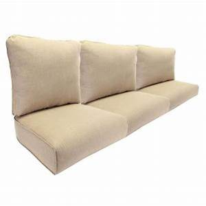 Hampton bay woodbury replacement outdoor sofa cushion in for Sandhill outdoor sectional sofa set replacement cushions