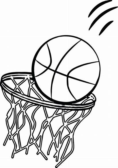 Basketball Coloring Pages Court Ball Playing Sports