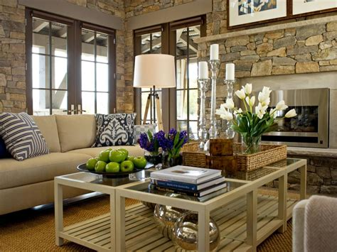Decorating Ideas For Living Room Coffee Tables by 15 Designer Tips For Styling Your Coffee Table Hgtv