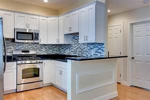 essex shaker white rta in stock kitchen cabinets With kitchen cabinets lowes with city wall art new york