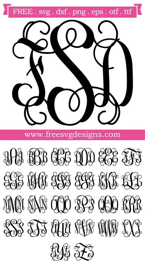 svg files svg png dxf eps script vine monogram font