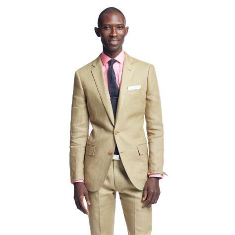 lyst jcrew ludlow classic suit pant  irish linen  natural  men