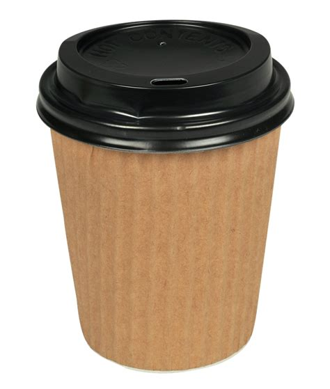 This disposable coffee cup is designed with an extra layer of paperboard and a textured pattern for additional insulation to protect consumers. 8OZ DOUBLE WALL COFFEE CUP CTN/500 - KDL