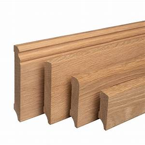 Sockelleisten Holz Weiß : sockelleisten eiche massiv holz fussleisten ~ Watch28wear.com Haus und Dekorationen
