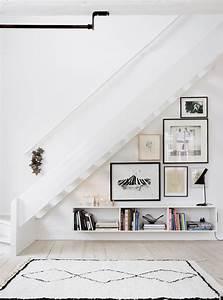 Bibliothèque Murale Design : escalier biblioth que design pour optimiser l 39 espace ~ Teatrodelosmanantiales.com Idées de Décoration