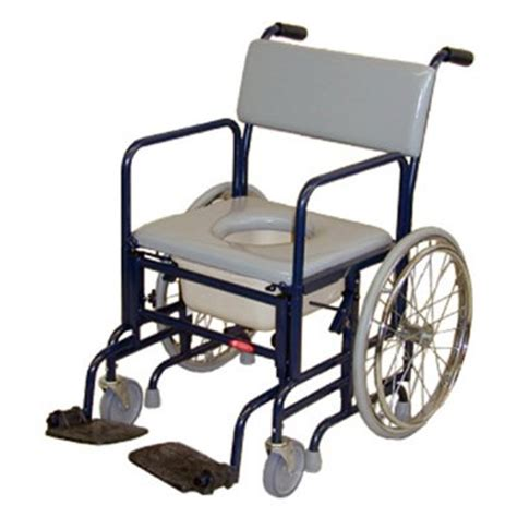 activeaid folding shower commode chair with 20 quot rear wheels