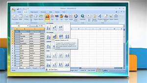 Microsoft Excel 2007 How To Create A Basic Chart On