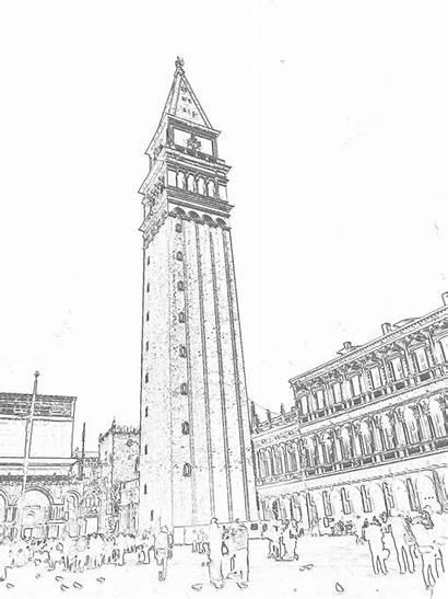 Marco Venezia Disegni Campanile San Venice Colorare