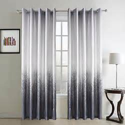 two panels curtain country living room polyester material curtains drapes home decoration for