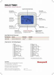 Catalog Thermostat Honeywell Halo T6861