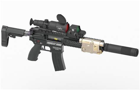 gun assault rifle hk   cgtrader