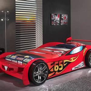 Lit Enfant Voiture : lit enfant voiture lemans rouge ~ Preciouscoupons.com Idées de Décoration