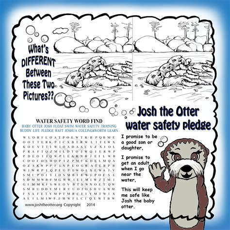 activities for children water smart broward 863 | Josh Activity Sheet