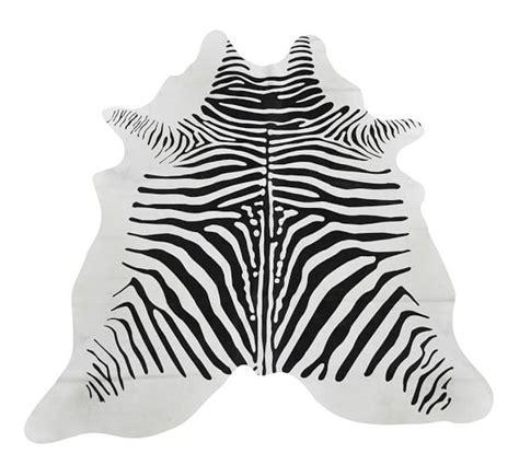 Zebra Hide Rugs by Zebra Pattern Hide Rug Pottery Barn