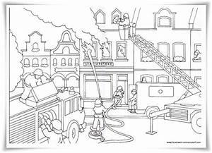 Feuerwehr, Ausmalbilder, U2013, Ausmalbilder, F, U00fcr, Kinder