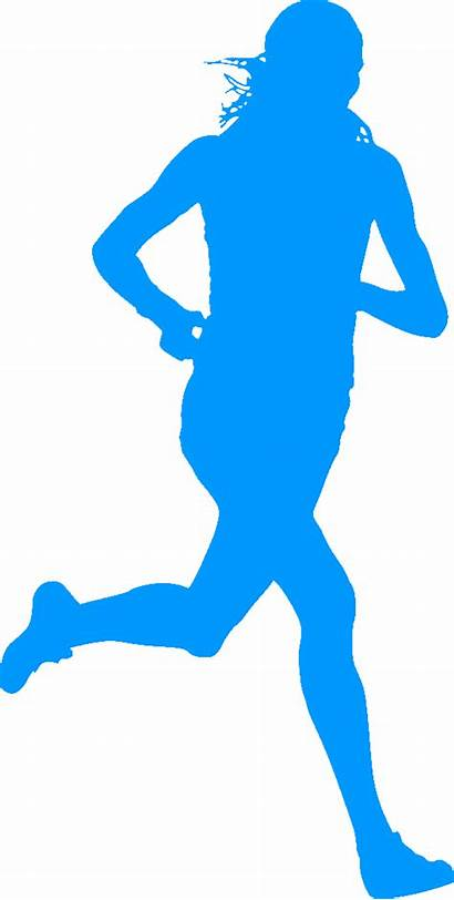 Silhouette Runner Running Clip Runners Clipart Cliparts