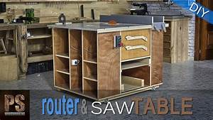 Homemade Router Table & Table Saw - YouTube