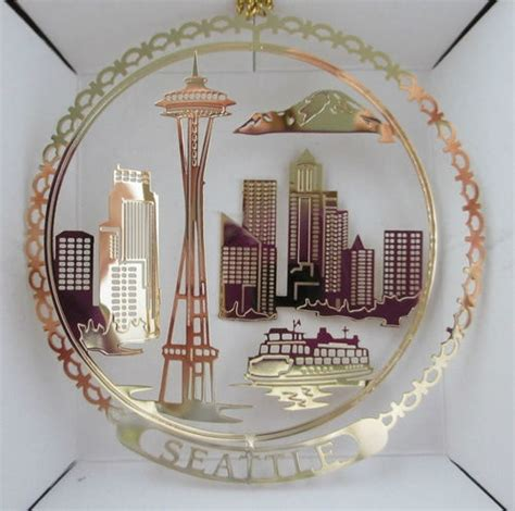 seattle christmas ornament traveling the usa pinterest