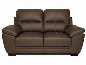Canapé fixe 2 places en cuir VICTORIA 2 coloris Conforama Pickture