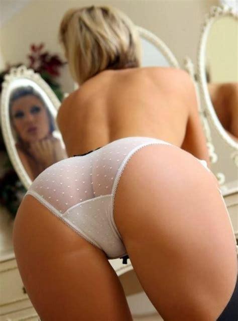 Bent Over Blonde Panties Nude See Through Bent Over Short Hair Mirror Tight Ass Pussy Lips Ass