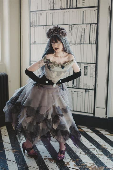 gorgeous gothic  tim burton inspired shoot
