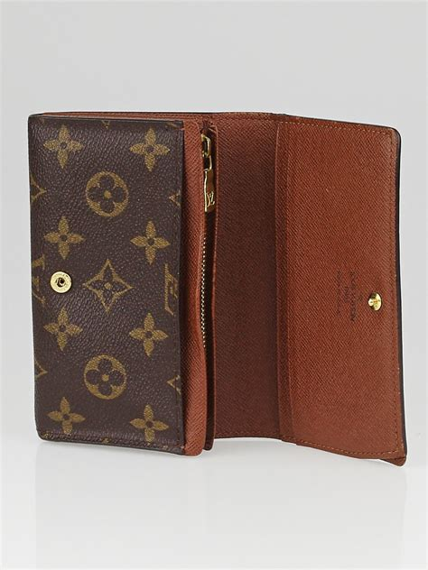 louis vuitton monogram canvas porte monnaie tresor wallet yoogi s closet