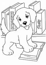 Coloring Puppy Pages Realistic Print sketch template
