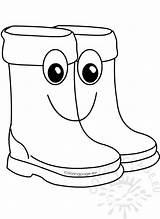 Rain Cartoon Boots Clipart Cute Coloring sketch template