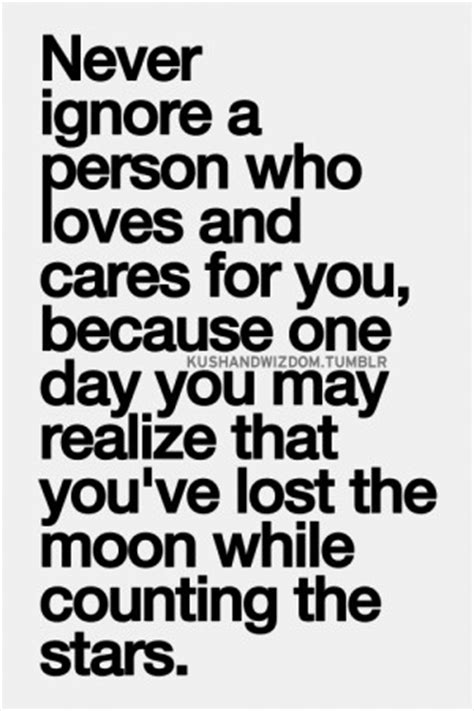 Ignoring The Person You Love Quotes