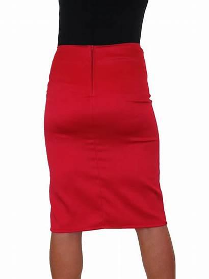 Skirt Pencil Slit Satin Bodycon 2552 Evening