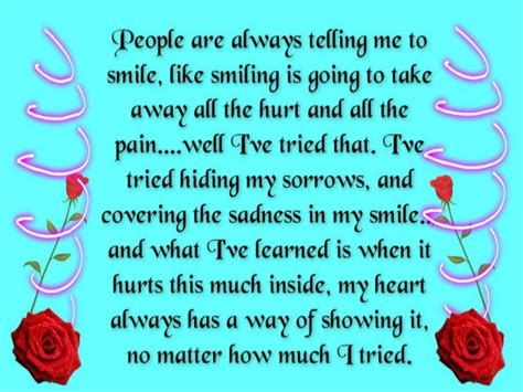 Quotes Hiding Pain Behind Smile