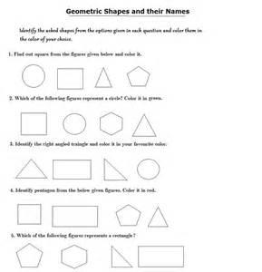 Shape Identification Worksheets