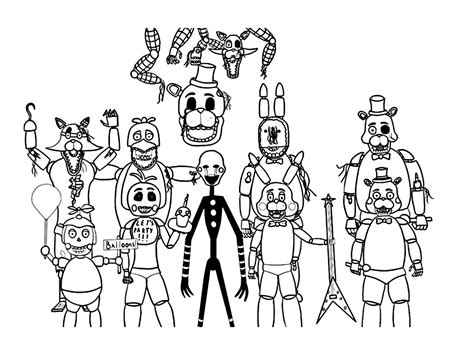 Five Nights At Freddys Kleurplaat by Five Nights At Freddy S Coloring Pages To And