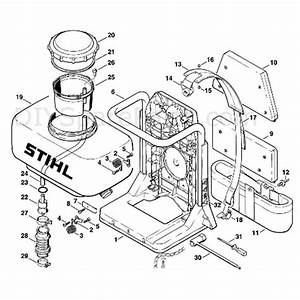 Stihl Br 400 Backpack Blower  Br 400  Parts Diagram  G