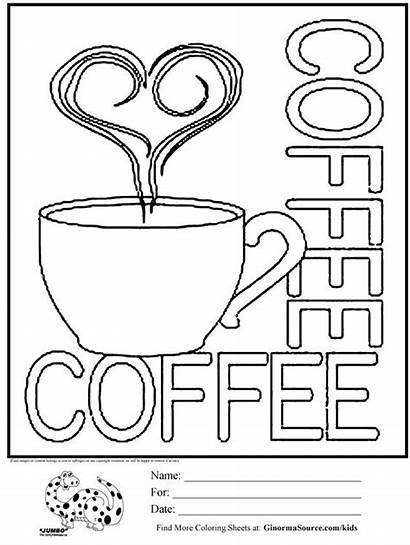 Coloring Pages Coffee Cups Cup Printable Sheets