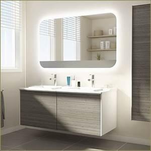 beautiful robinet mural salle de bain leroy merlin photos With salle de bain design avec meuble salle bain teck